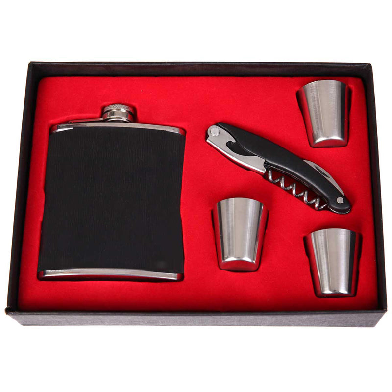 Black Flask Set (5 Pieces)