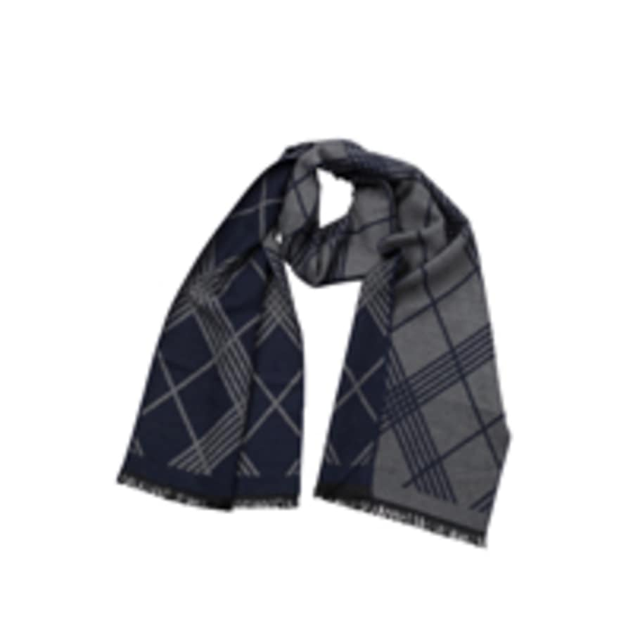 Kali Reversible Scarf (Navy & Grey)