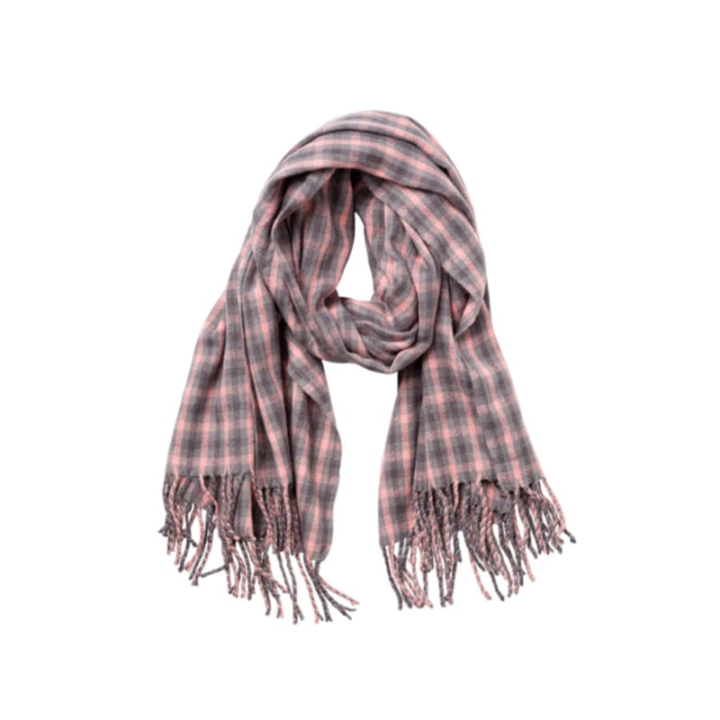Merry Scarf (Pink & Grey)