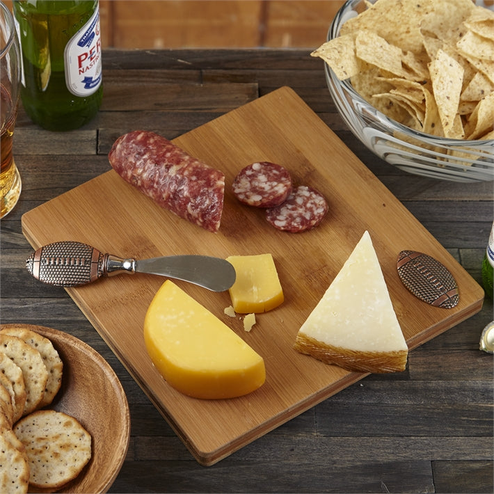 Football Board with Cheese Spreader in Gift Box (Set of 2)