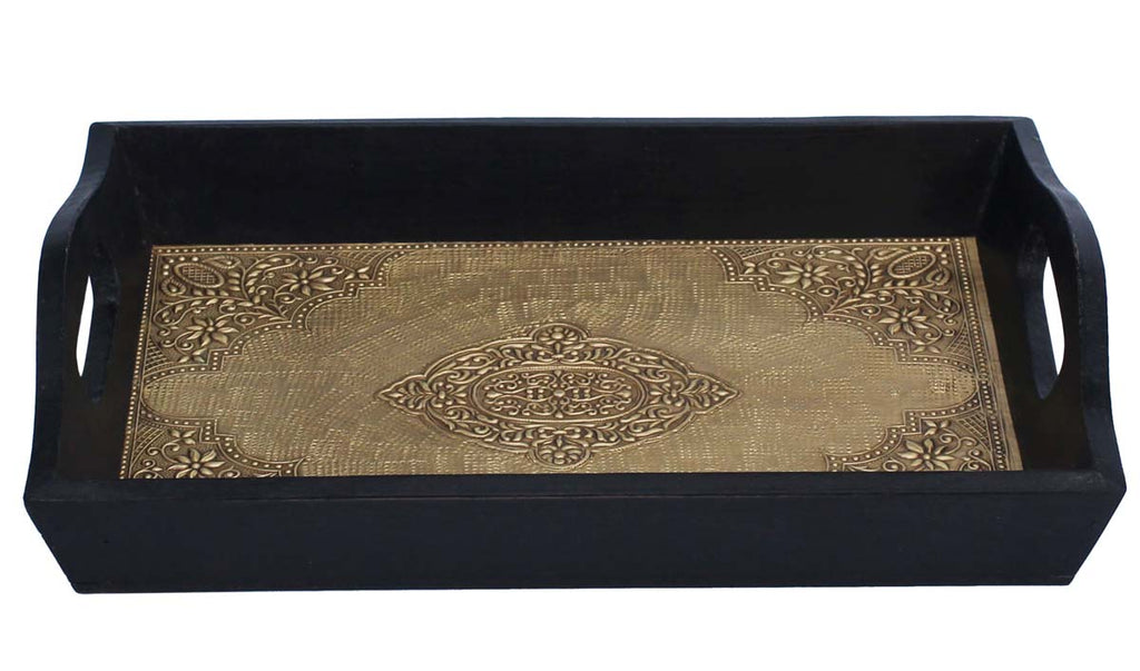 Golden Lining Handmade Wooden Tray