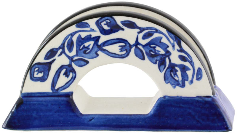 Blue and White Napkin Holder