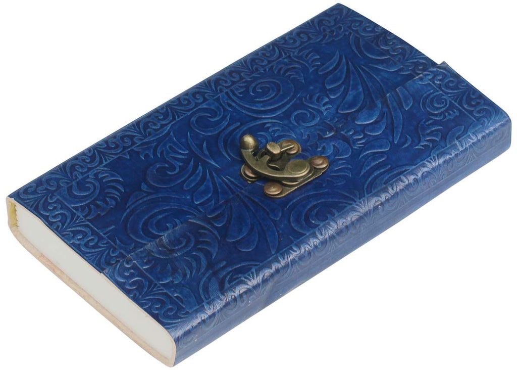 Navy Blue Leather Journal