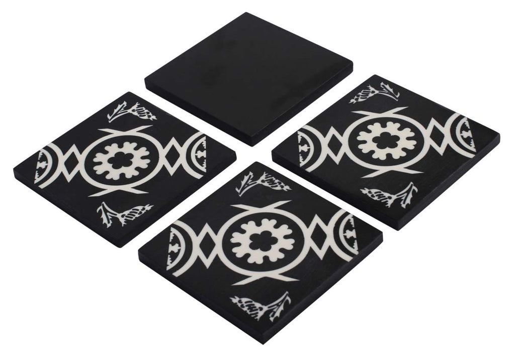 Black and White Coaster (Set of 4)
