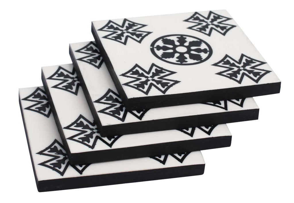 White and Black Coaster
