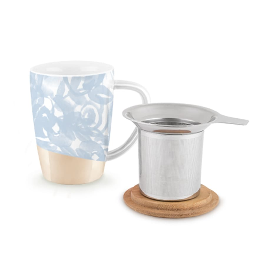 Light Blue Ceramic Tea Mug & Infuser