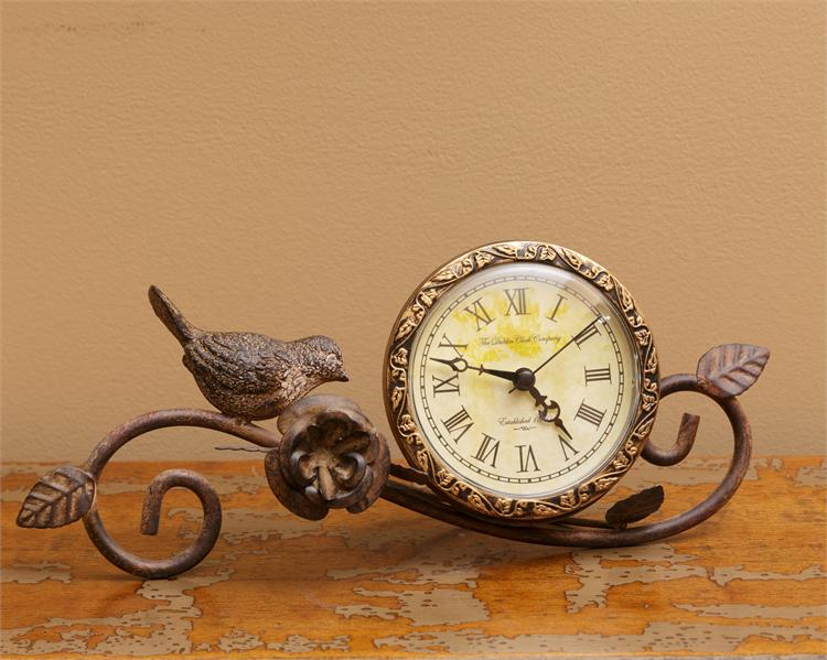 Clock With Birds & Flowers
