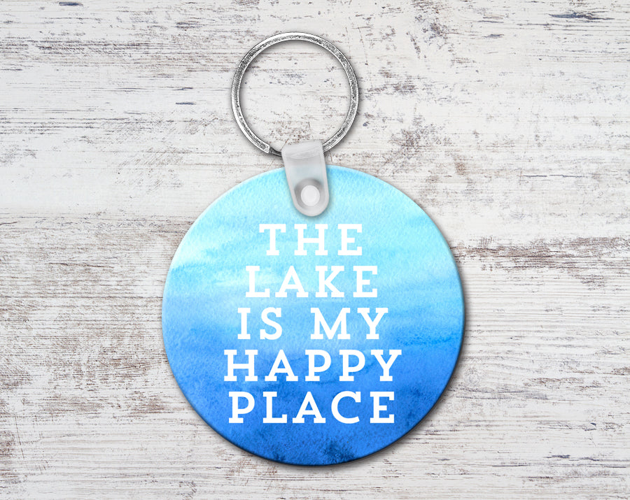 The Lake Is My Happy Place Keychain