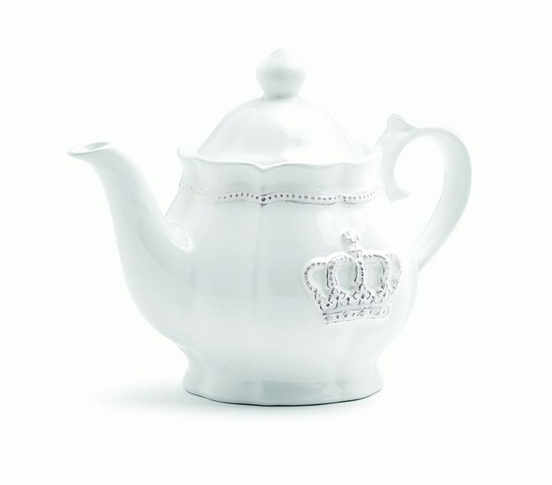 Crown Ceramic Teapot