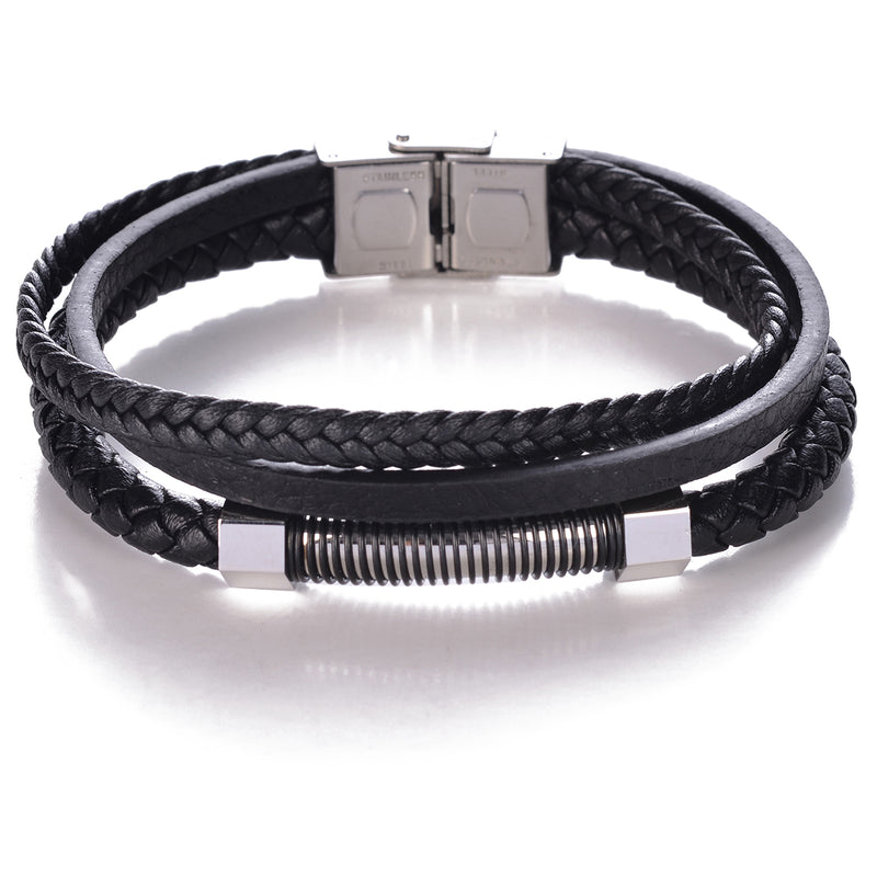 Men's Black on Black Bracelet
