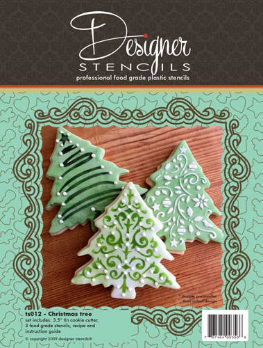Christmas Tree Cookie Cutter And Stencil Set