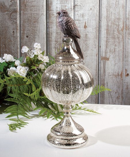 Mercury Glass Bird Finial