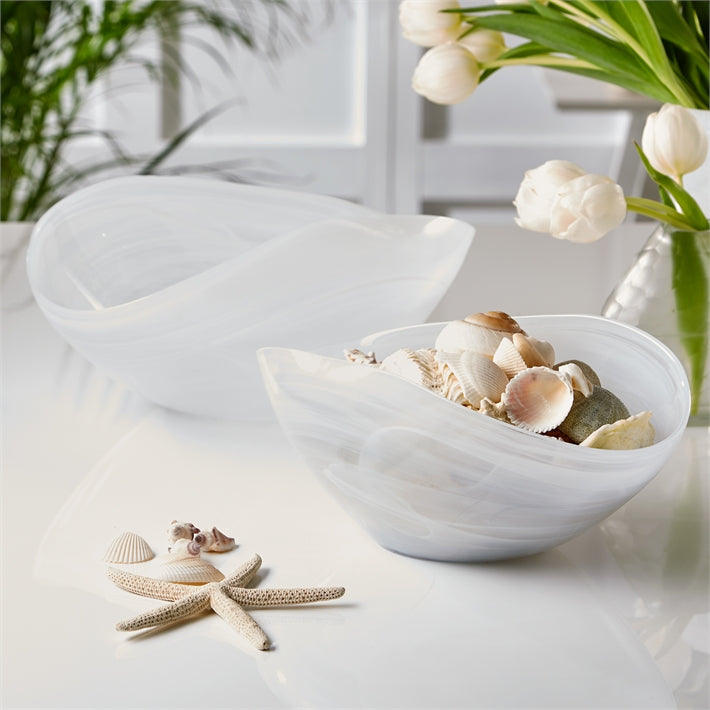 Striations White Wave Bowl (food safe)