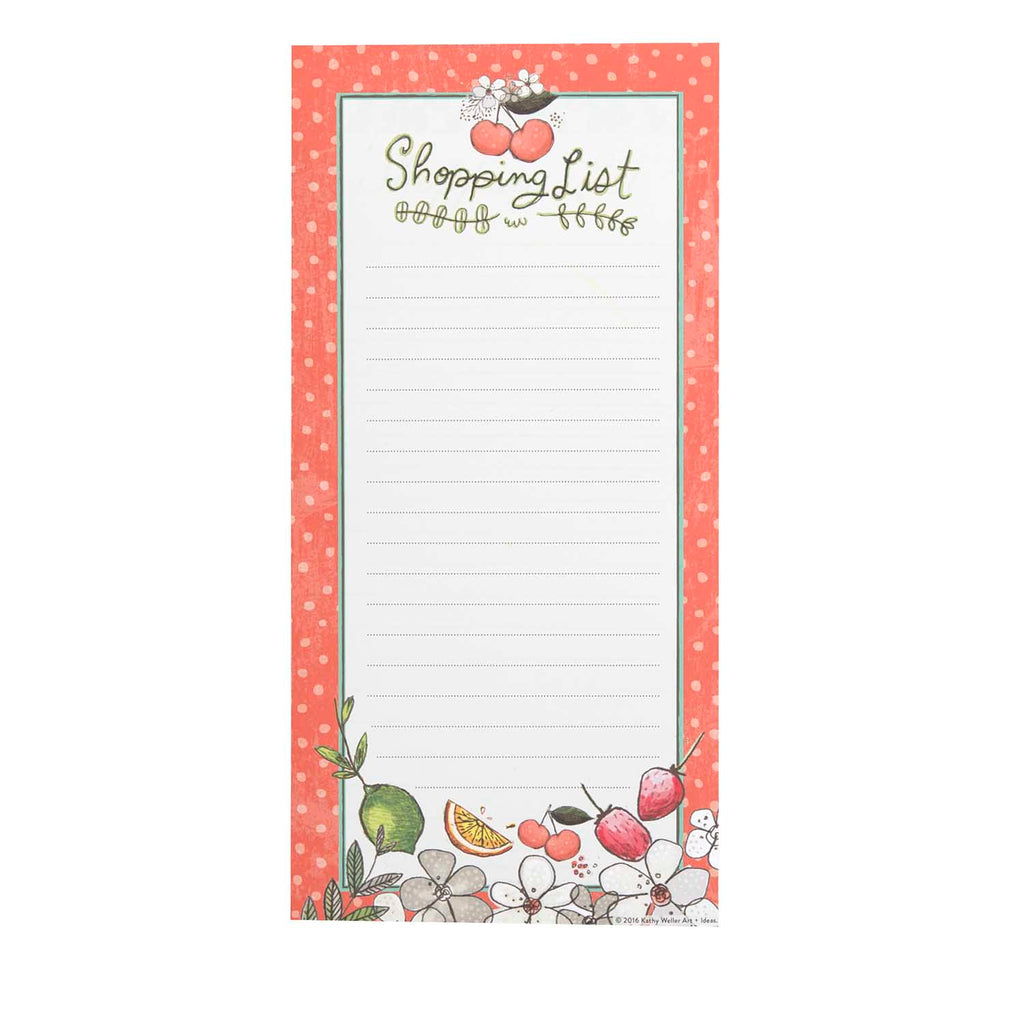 Magnetic Shopping List Pad - Fruit Fusion