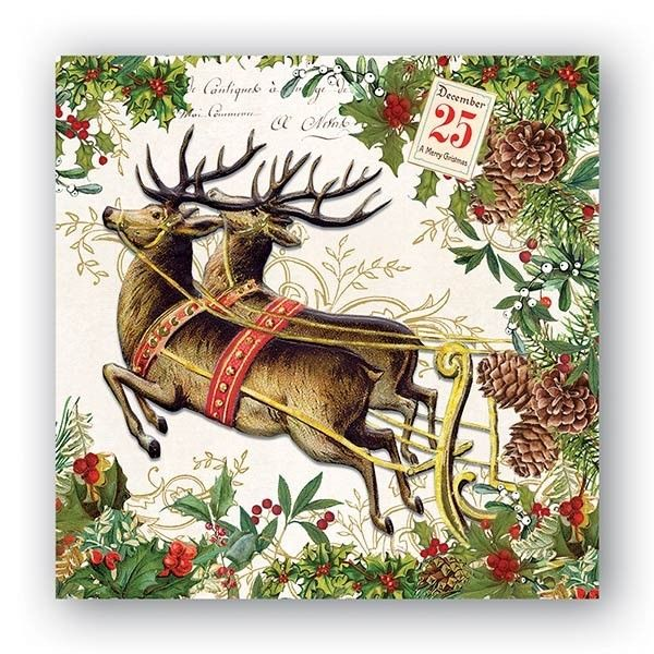 Christmas Joy Luncheon Napkins