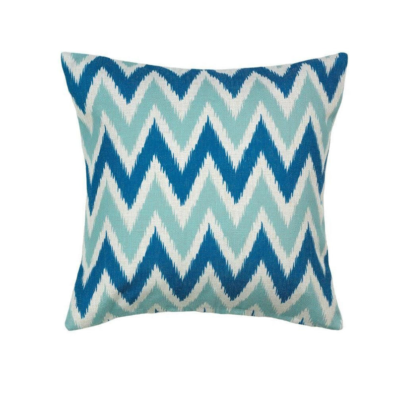 Cool Waves Chevron Throw Pillow