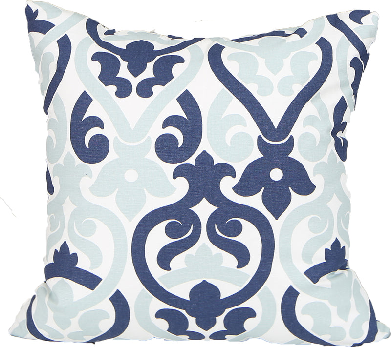 Crown Blue Indoor Pillow