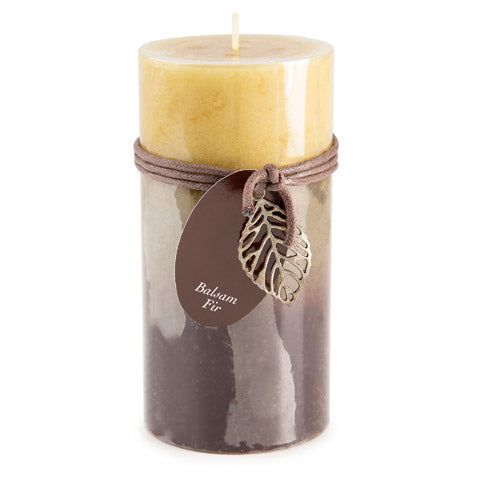 Dynamic Collections® Layered Candles - Balsam Fir - 6-inch Pillar