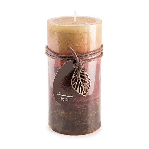 Dynamic Collections® Layered Candles - Cinnamon Apple - 6- inch Pillar