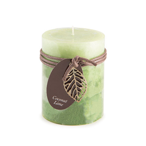Coconut Lime - 4 inch Pillar Candle
