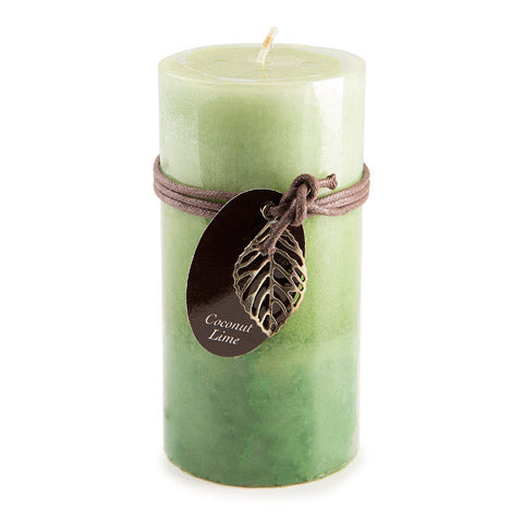 Coconut Lime - 6 inch Pillar Candle