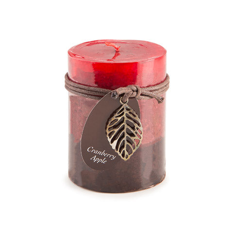 Dynamic Collections® Layered Candles - Cranberry Apple - 4- inch Pillar