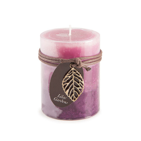 Dynamic Collections® Layered Candles - Lilac Gardens - 4-inch Pillar