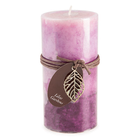 Dynamic Collections® Layered Candles - Lilac Gardens - 6-inch Pillar