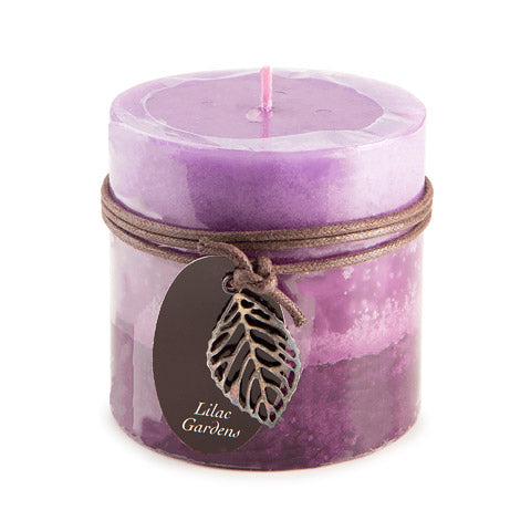 Dynamic Collections® Layered Candles - Lilac Gardens - 4-inch Wide Pillar