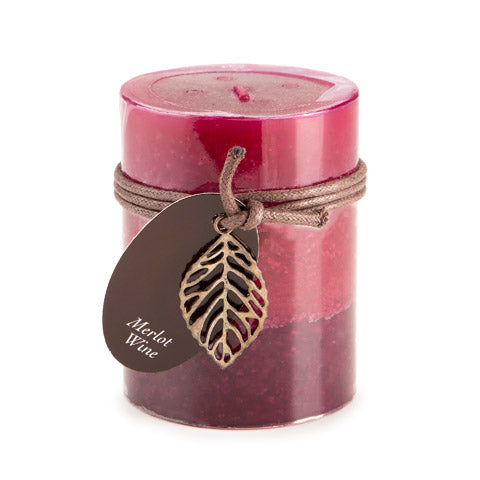 Dynamic Collections® Layered Candles - Merlot Wine - 4-inch Pillar