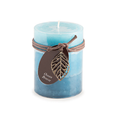 Dynamic Collections® Layered Candles - Ocean Breeze - 4- inch Pillar