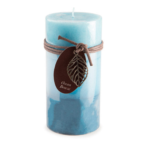 Dynamic Collections® Layered Candles - Ocean Breeze - 6- inch Pillar