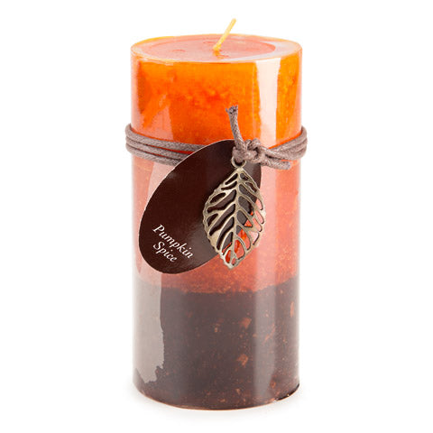 Dynamic Collections® Layered Candles - Pumpkin Spice - 6-inch Pillar