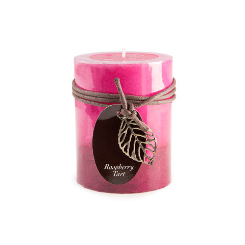 Dynamic Collections® Layered Candles - Raspberry Tart - 4-inch Pillar
