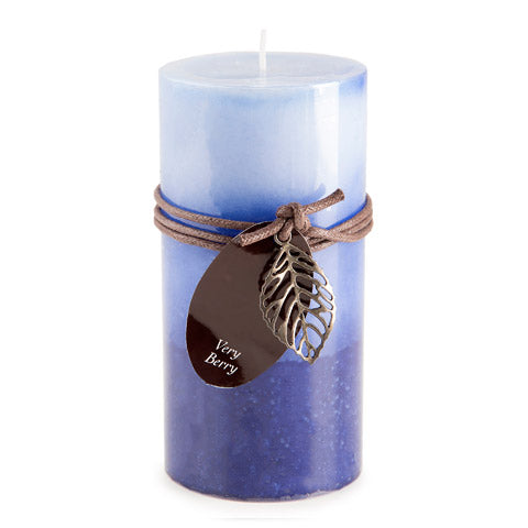 Dynamic Collections® Layered Candles - Very Berry - 6-inch Pillar