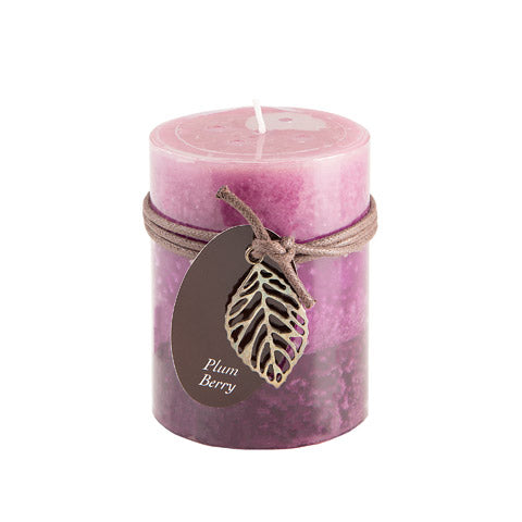 Dynamic Collections® Layered Candles - Plum Berry - 4-inch Pillar