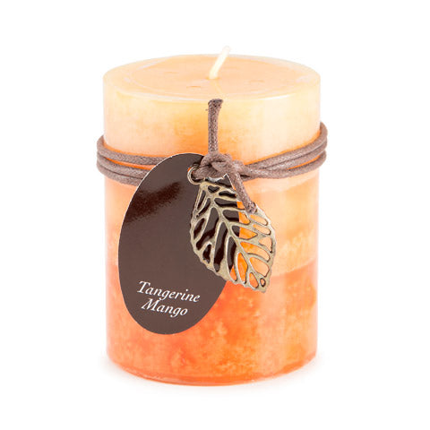 Dynamic Collections® Layered Candles - Tangerine Mango - 4-inch Pillar