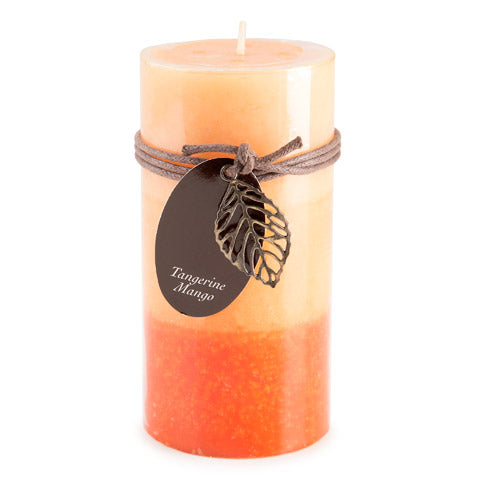 Dynamic Collections® Layered Candles - Tangerine Mango - 6-inch Pillar