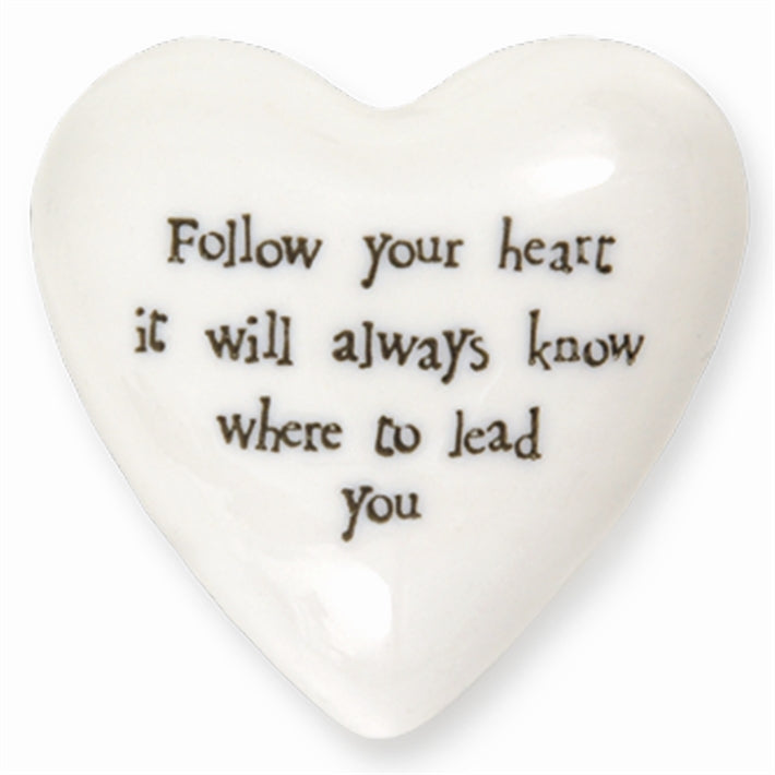 Follow Your Heart - Puffed Heart Paperweight