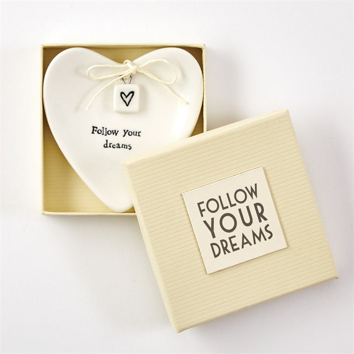Follow Your Dreams Porcelain Dish