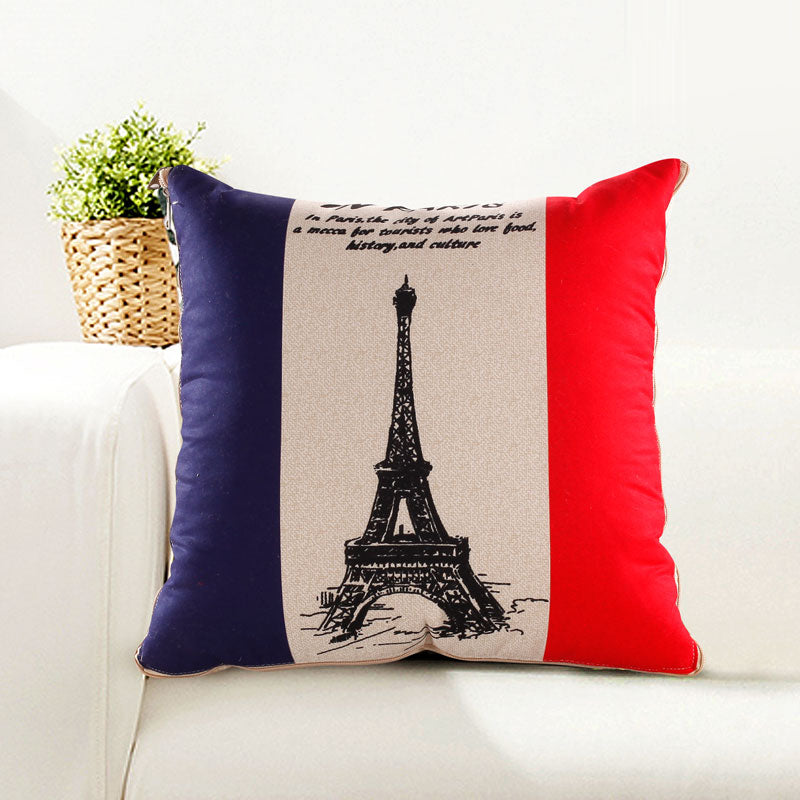 Eiffel Tower Pillow & Blanket