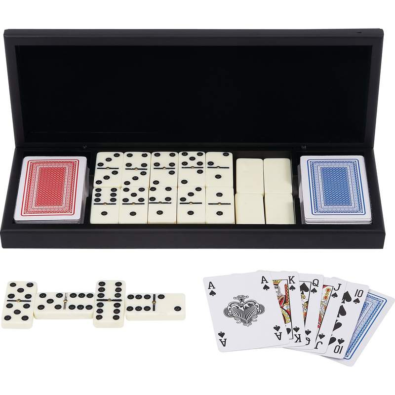 Domino Set with 2 Decks of Cards