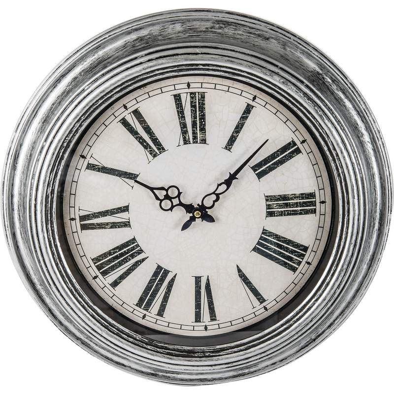 "Brookwood 20"" Round Wall Clock with Antique Frame and Dial"