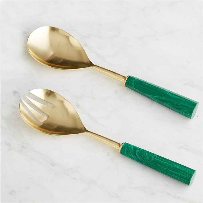 Malachite Serving Set (Set of 2)