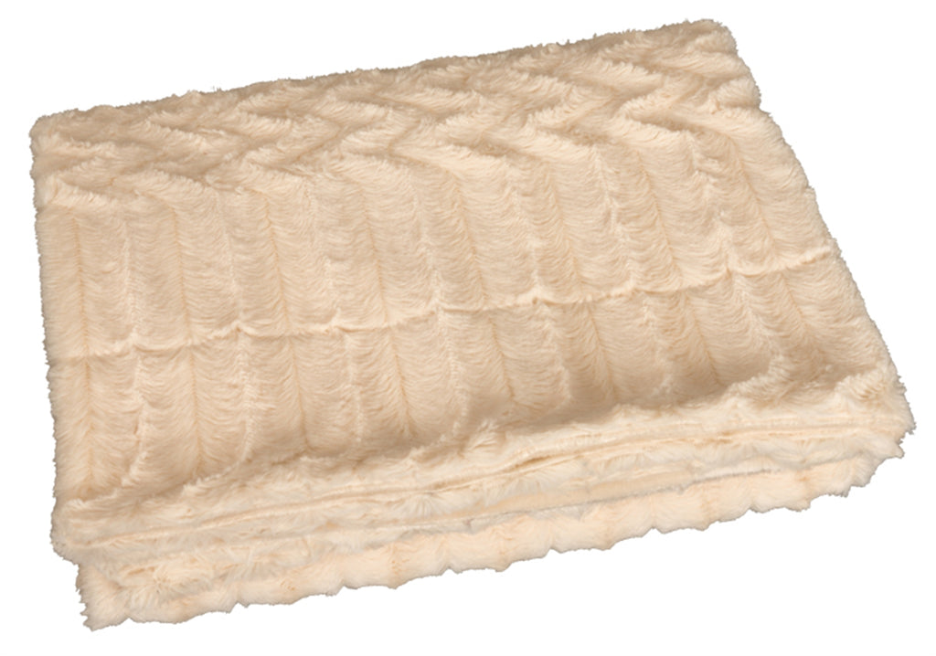 Cream Faux Fur Blanket (50x60)