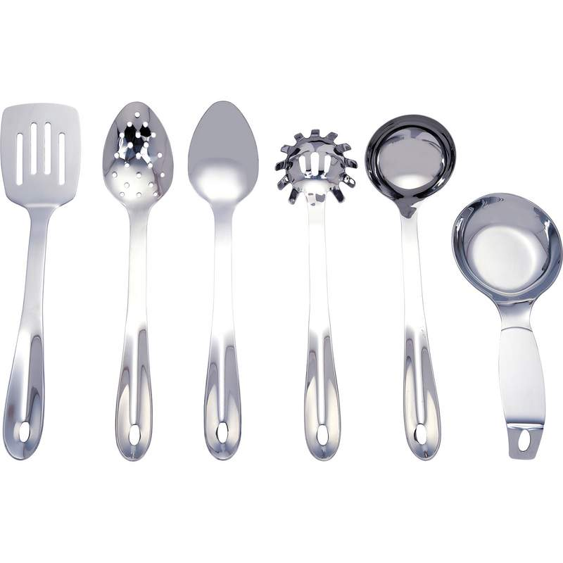6 Piece Stainless Steel Kitchen Utensil Set