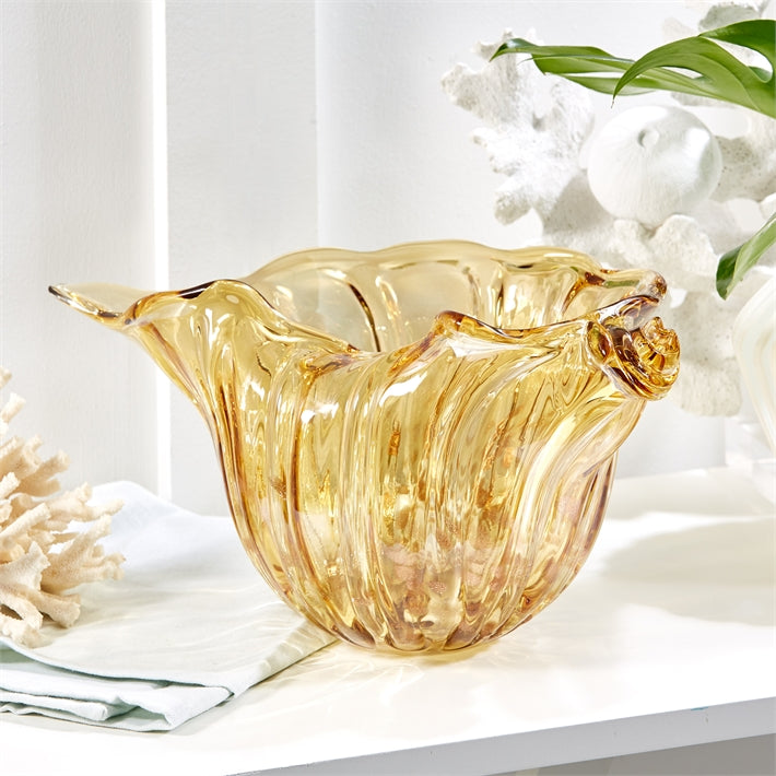 Golden Seas Art Glass Bowl