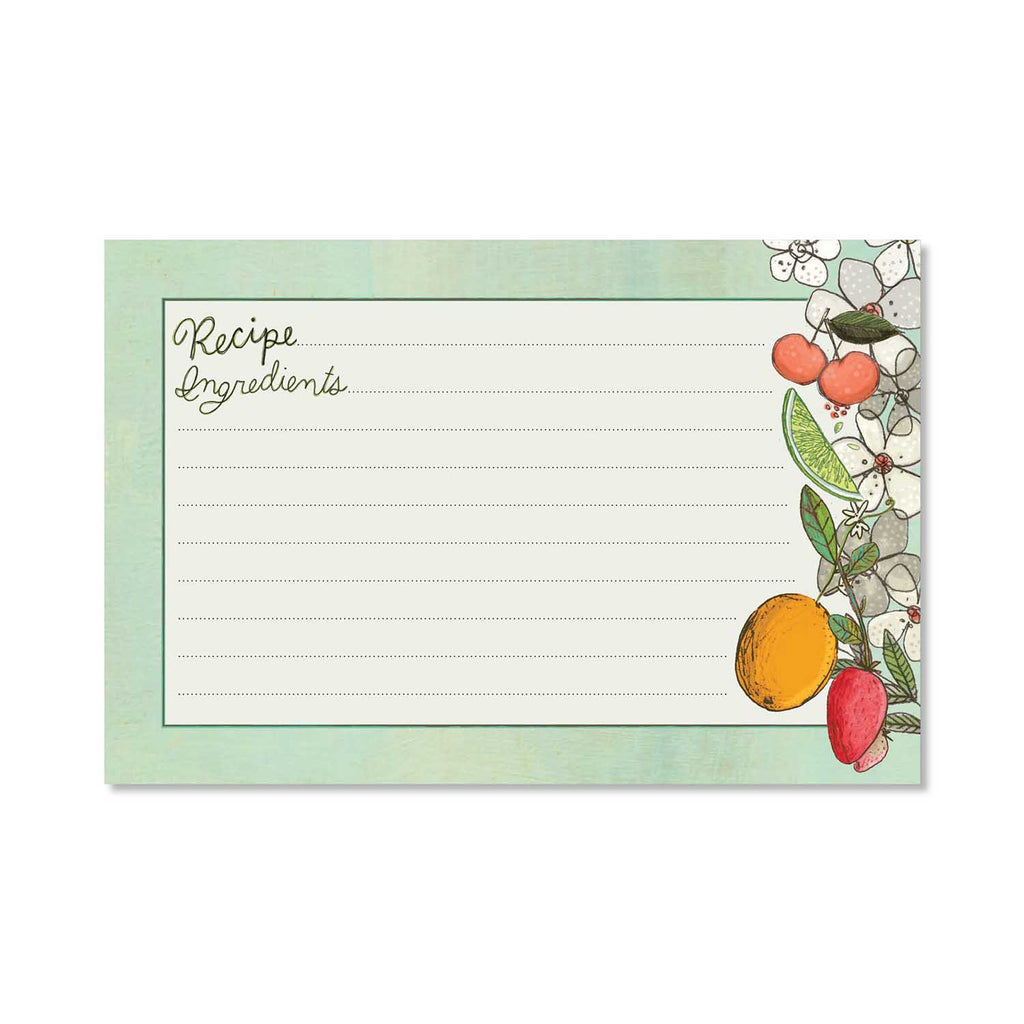 "Recipe Cards 4"" x 6"" - Fruit Fusion"