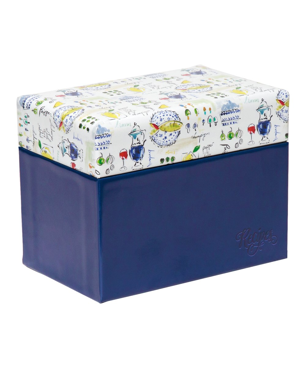 Recipe File Box - Provence