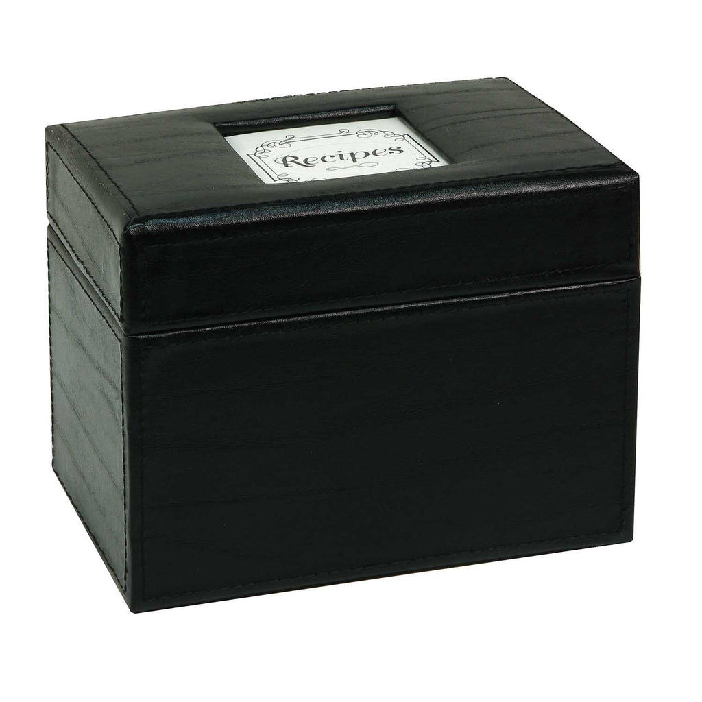 Recipe File Box - Initial Gourmet